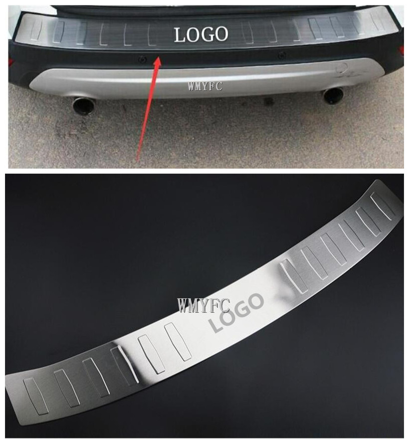 Protection de pare-chocs de pont de coffre arrière panneau de seuil de botte plaque de revêtement d'habillage garniture 2013-2018 pour FORD ESCAPE KUGA