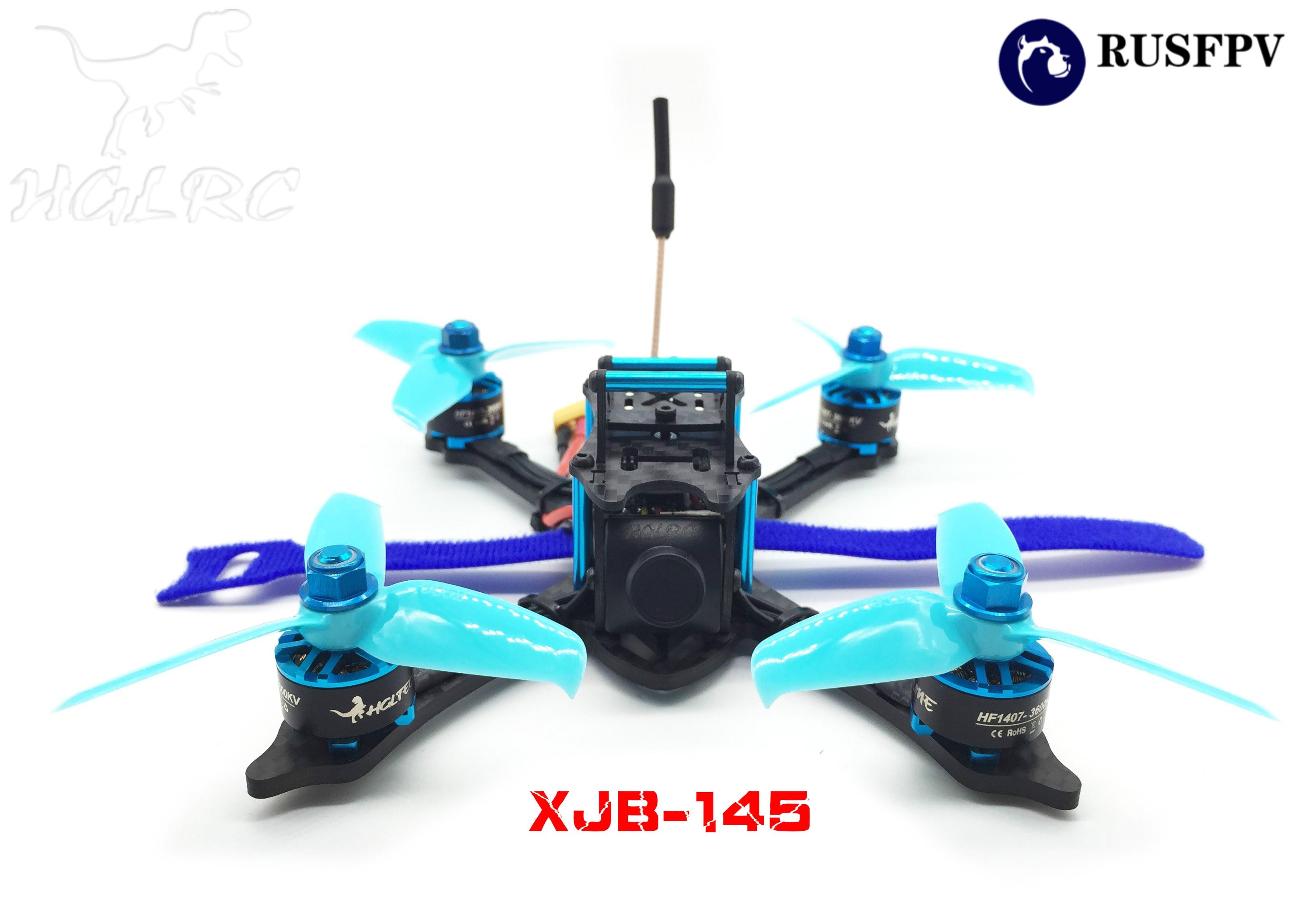 HGLRC XJB-145 145MM MICRO FPV RACING DRONE Omnibus F4 28A 2-4S Blheli_S ESC 25/100/200/350mW Switchable VTX PNP BLUE все цены