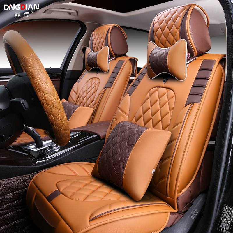 D Styling Car Seat Cover For Ford Edge Escape Kuga Fusion Mondeo Ecosport Explorer Focus Fiestahigh Fiber Leather