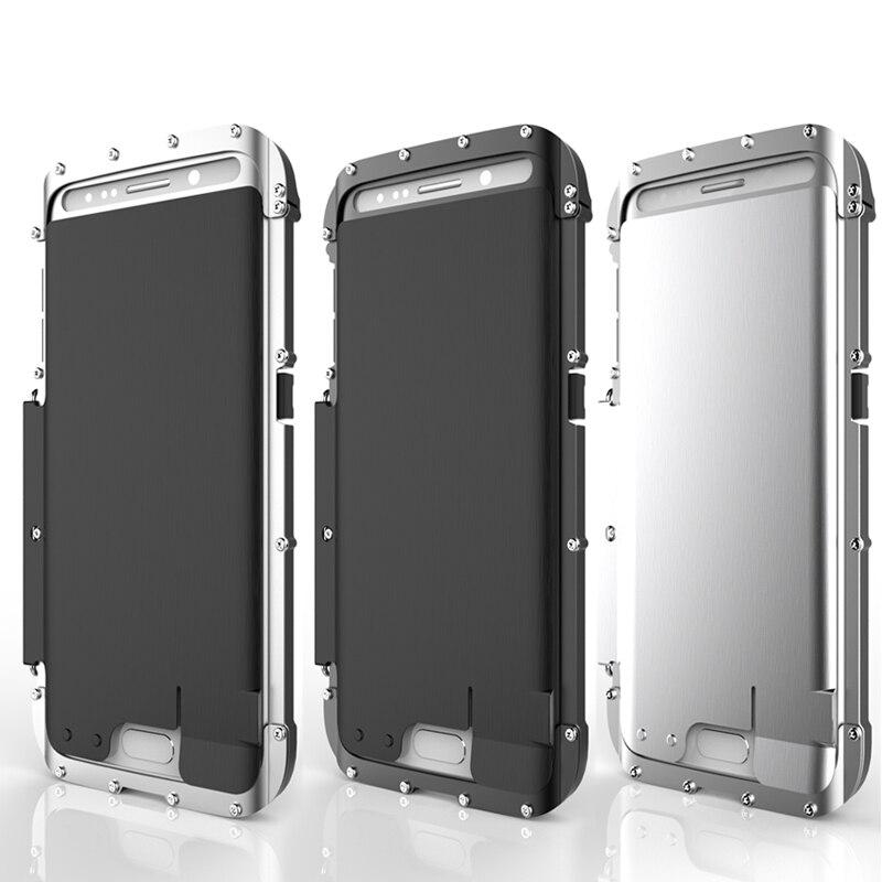 imágenes para R-just armor king flip acero inoxidable metal case para samsung galaxy s7 edge & s7 potente antidetonantes cubierta protectora