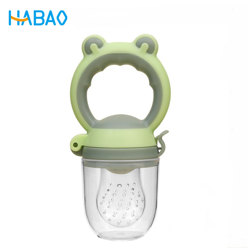 New Frog Head Baby Pacifier Safety Silicone Food Music Fruit And Vegetable Food Fruit Bite Bag Baby Eat Fruit Food Supplement