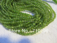 Natural Peridot 4 Mm Round Semi Precious Stone Beads 10 Stirngs Lot Jewelry Accessories Beads Free