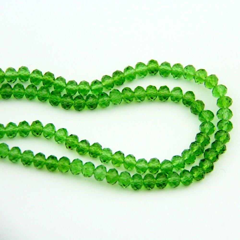 En gros 8X10mm 720-2880 pièces boule de cristal herbe vert verre Rondelles boule perles chine artisanat matériel pour la décoration de la maison