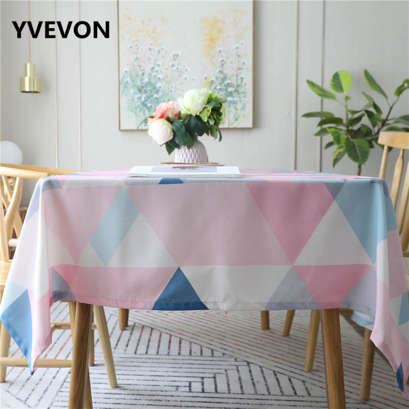Kitchen Waterproof Table Cloth Cotton Dining Cover Rectangular Linen Tablecloths Home Party Modern Decor