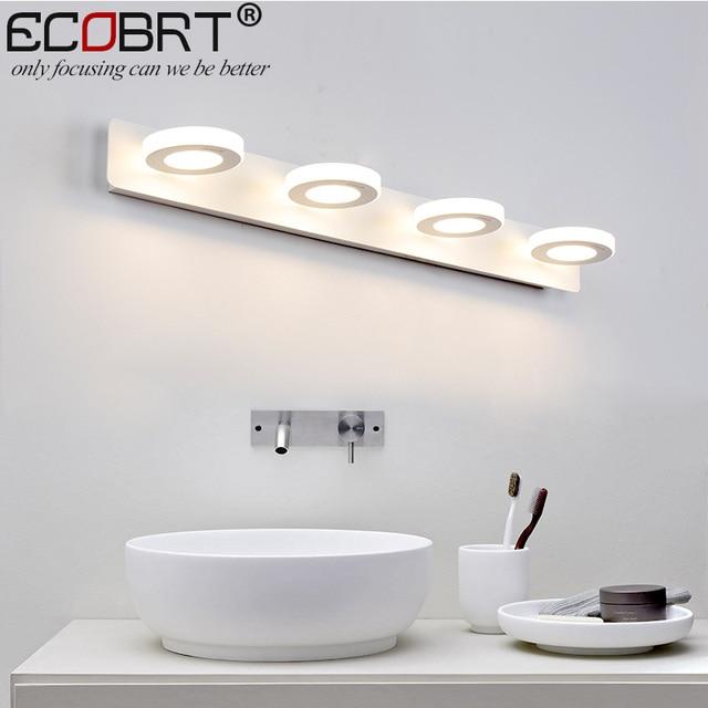 ECOBRT moderno cuarto de baño espejo de led luces 65 cm AC90 260V 12 ...