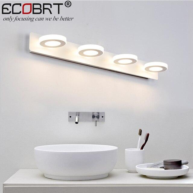 Us 9998 Ecobrt Nowoczesna światła Led Do Lustra łazienkowego 65 Cm Ac90 260v 12 W Kosmetyczny Biały Lampy ścienne Akrylowe łazienka Oświetlenie