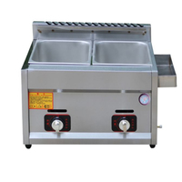 Commercial Double Cylinder Gas Fryer Deep Fried Dough Stick Machine Potato Tower Machine Fried Chicken Stove Home Gas Fryer