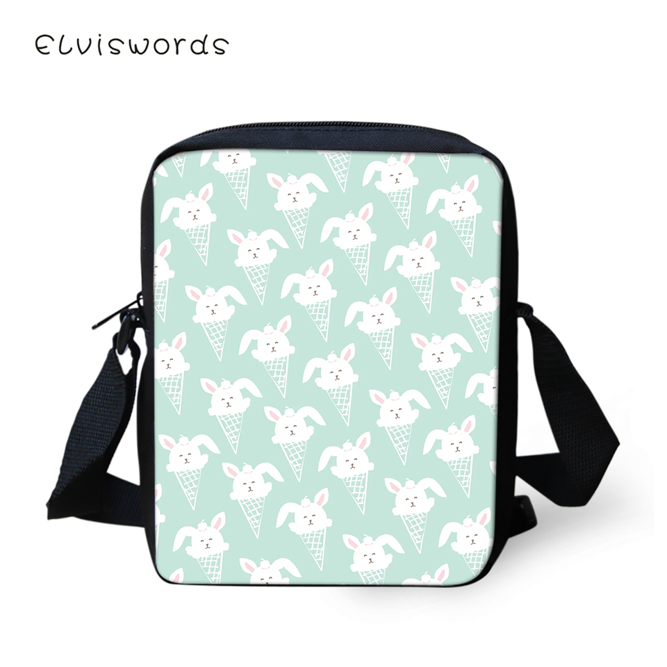 ELVISWORDS Fashion Women Messenger Bags Cartoon Cats Pattern Shoulder Bags Kawaii Design Girls Flaps Handbags Mini Kids Mochila in Crossbody Bags from Luggage Bags
