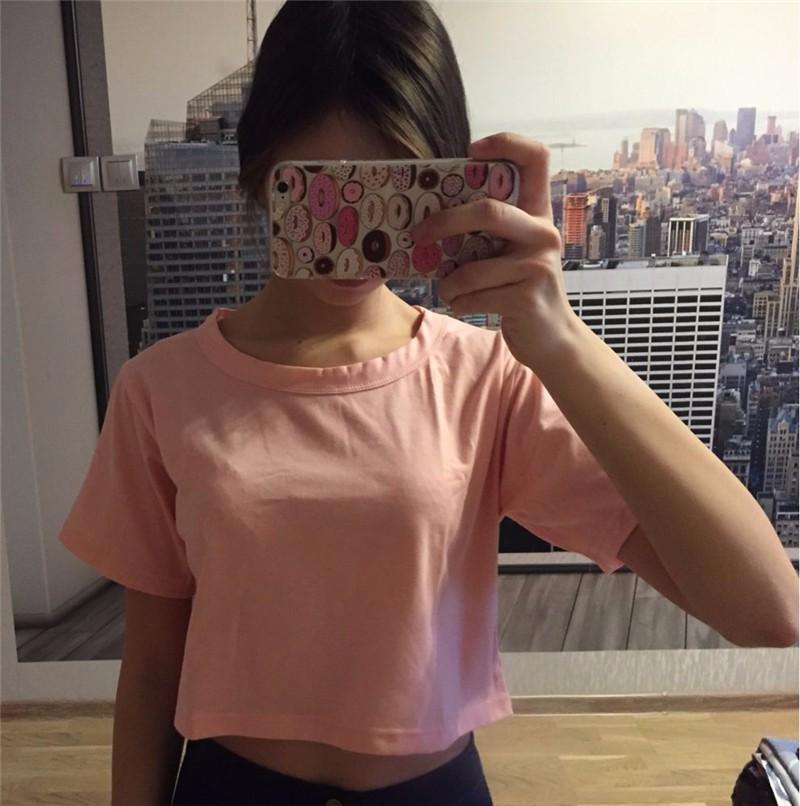 HTB1cCS7KpXXXXX9aXXXq6xXFXXXv - Harajuku T Shirt Women Casual Crop Top JKP103