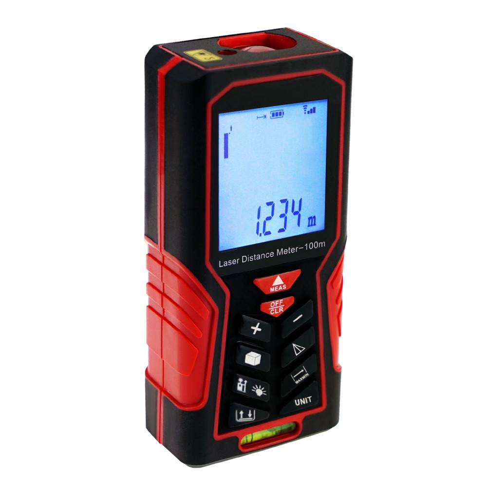 Digital Laser Distance Meter 100m(328ft) Handheld Range Finder Area & Volume Measuring Tools Meter Tester high quality new gm100d photoelectric laser distance meter volume tester 100m range finder