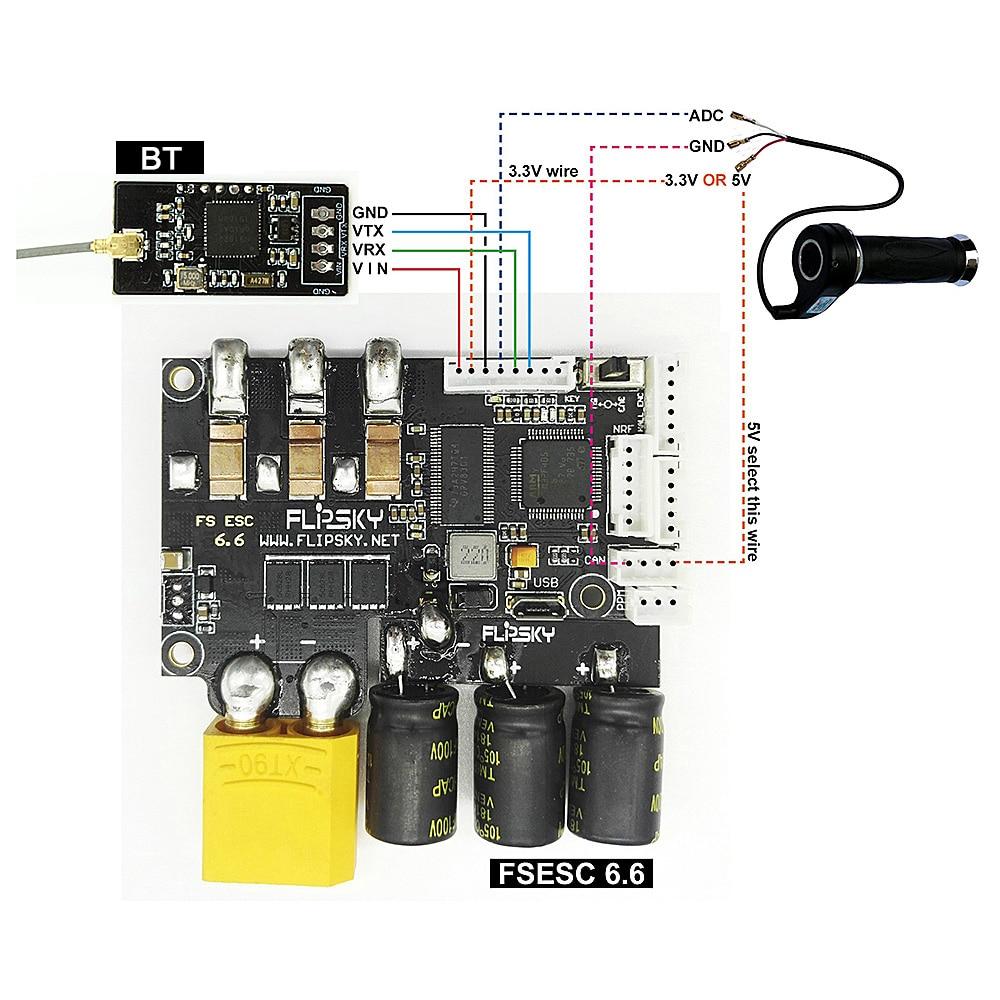 FLIPSKY BT 2.4G Wireless Module Based Upon The Nrf51_vesc Project For VESC4 VESC6 ESC