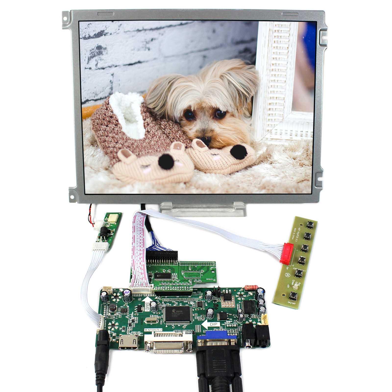 HDMI+DVI+VGA+Audio Controller Board With 10.4inch 640x480 AA104VH01 LCD Screen