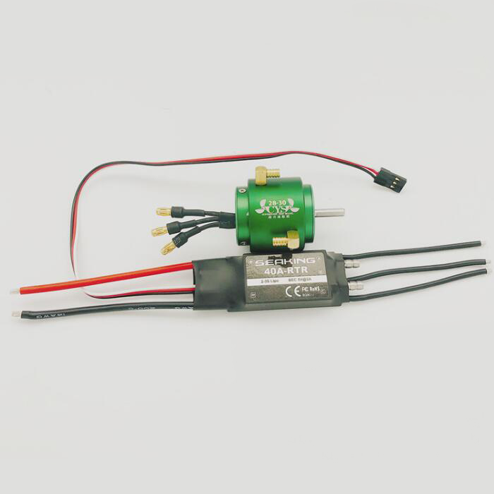 RC Boat Electric Parts 2835 3300KV Brushless Motor/28mm Water Cooling Jacket/ESC Speed Controller for 30-60cm RC Boat Model