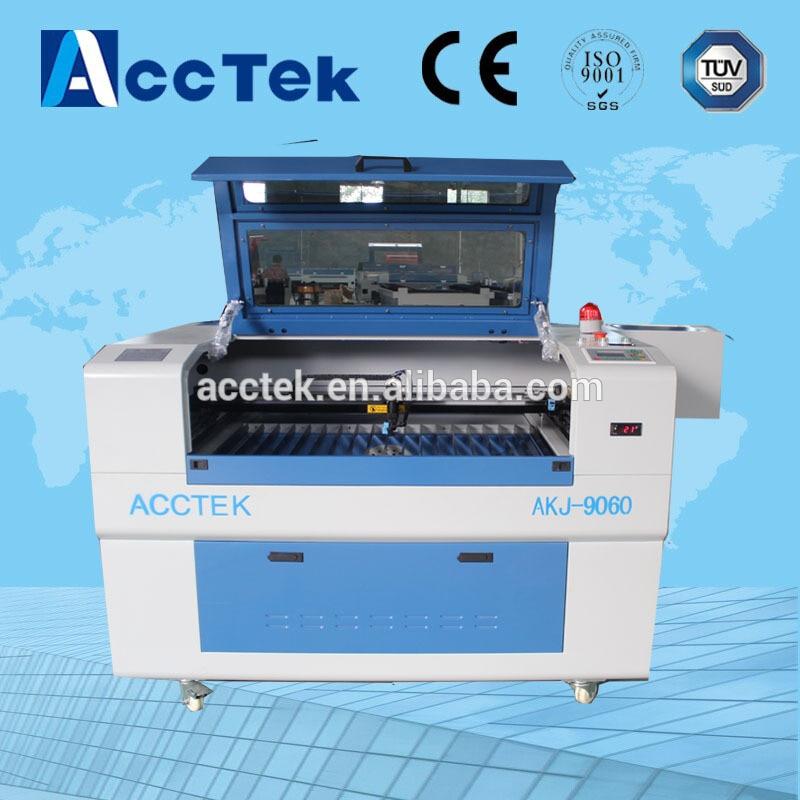 Hot selling gold laser cutting machine 6090 laser, CO2 laser engraver machine  acctek china 6090 co2 die board laser cutting machine co2 flatbed laser cutting machine