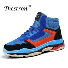 2019 Thestron Fashion Sneakers Luxury Brand Sport Boots Men High Top Running Shoes Spring Autumn Gym