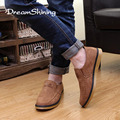DreamShining New Spring Autumn Top Fashion Brand Flat Shoes Men's Flats Shoes Men Suede Flats Shoes Size 39-44