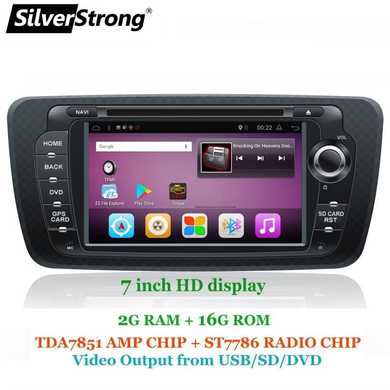 SilverStrong Android7.1 QuadCore 2g + 16g Ibiza DVD Dell'automobile per Seat Ibiza 7 pollici Android Radio Ibiza GPS con Mirroring link RDS