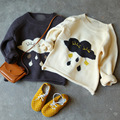 BBK 2016 otoño invierno de Los Niños del bebé privado Lluvia nubes hechas de puro algodón suéter de punto cardigan Niños bebé de la capa del suéter boy