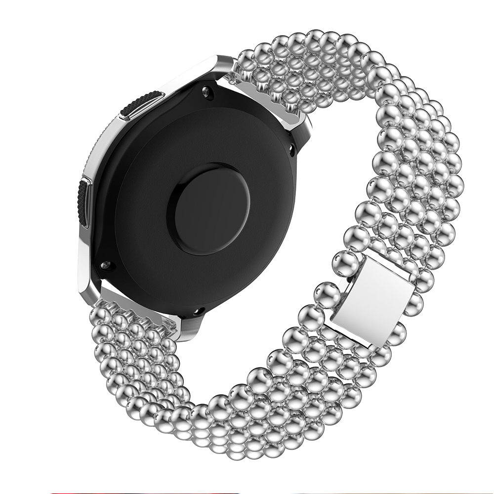 22mm Watch Strap alloy Steel For Samsung Galaxy Watch 46mm Metal Watchband For Samsung Gear S3 Classic Frontier Watch men beads in Watchbands from Watches