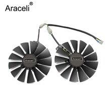 2pcs/set 95mm PLD10010S12H GPU Cooler For ASUS DUAL RX580 4G ROG STRIX RX570 GTX 1050TI GTX1080TI Gaming Graphics Card Cooling