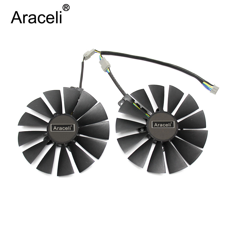 2pcs/set 95mm PLD10010S12H GPU Cooler For ASUS DUAL RX580 4G ROG STRIX RX570 GTX 1050TI GTX1080TI Gaming Graphics Card Cooling image