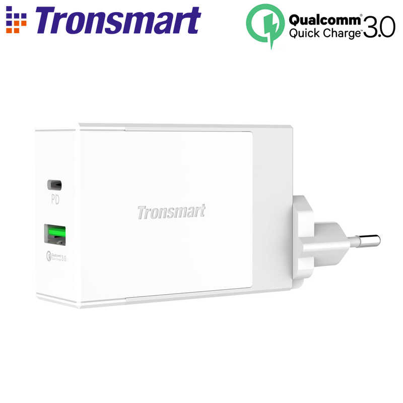 Tronsmart W2DT USB PD Зарядное устройство usb type C Быстрая зарядка 3,0 Для Xiaomi Mi5 для huawei P10 для S8 быстрое зарядное устройство для телефона