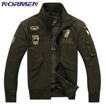 2017 neue Marke herren Bomber Jacke Casual-Style Feste Jacke für Männer Plus Größe Rib Sleeve Air Force Jacket Adler stickerei