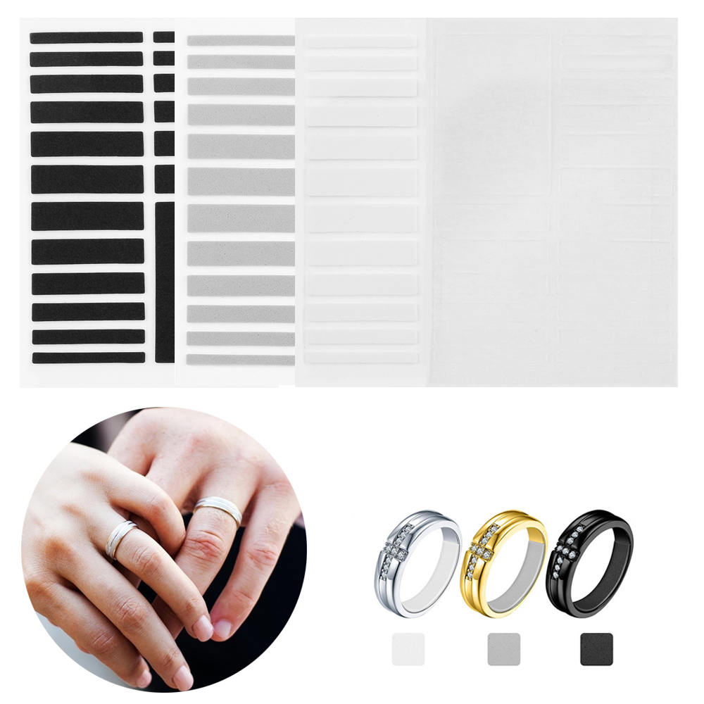 19 Pcs/Per Sheet Invisible Ring Inner Ring Sticker Size Adjustment Pad 4 Colors Ring Size Adjuster Set Or Loose Rings Jewelry
