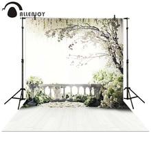 Allenjoy ถ่ายภาพฉากหลังสวนระเบียง LOFT ต้นไม้ดอกไม้สีขาวพื้นหลัง props photocall Photobooth Photo Studio