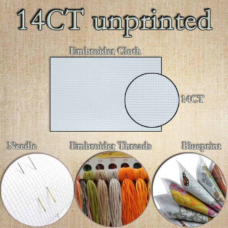 UNA notte tranquilla pittura Scenic modello contato punto stampato su tela di canapa DMC 11CT 14CT Cinese A Punto Croce Set kit di ricamo ricamo