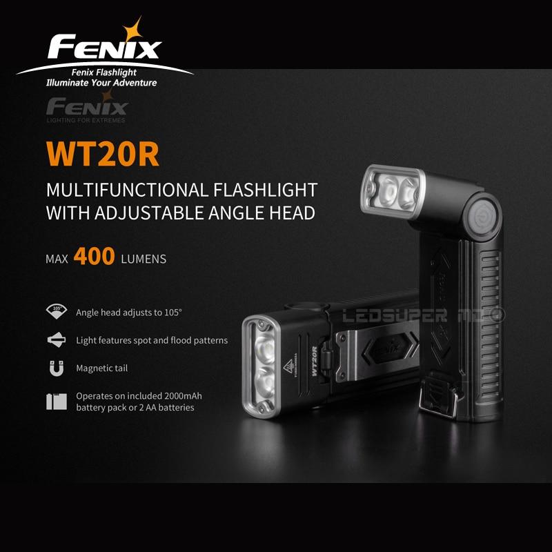 105 ° Instelbare Hoek Hoofd Fenix Wt20r 400 Lumens Multifunctionele Zaklamp Met Li-polymeer Accu Lekkernijen Geliefd Bij Iedereen