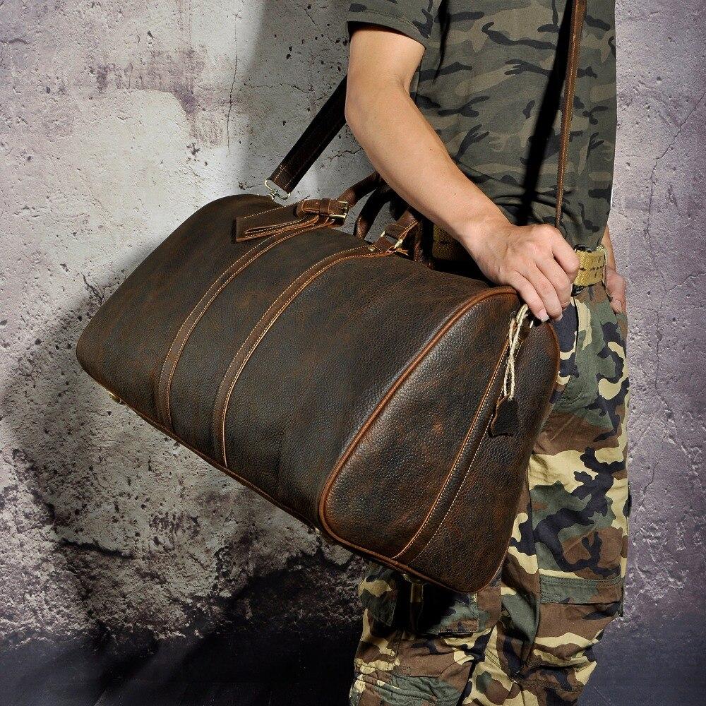 Männer Original leder Große Kapazität Designer Reisetasche Reisetasche Gepäcktasche Mode Männlichen Koffer Messenger Schulter Tasche 3264-in Reisetaschen aus Gepäck & Taschen bei  Gruppe 3