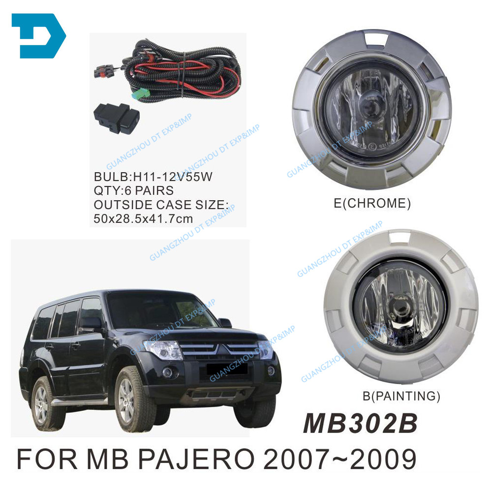pajero v97 v93 full set fog lamp with bulb v98 v87 front fog lamp with wire and switch with turning signal lamp v98 chrome