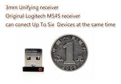 Oryginalny 3mm odbiornik Unifying dla bezprzewodowa mysz i klawiatura Logitech M185 M280 M545 mk260 270 można podłączyć do sześciu urządzeń