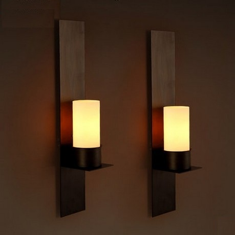 Aliexpress.com : Buy Retro Loft Style LED Wall Sconce Iron Glass ...