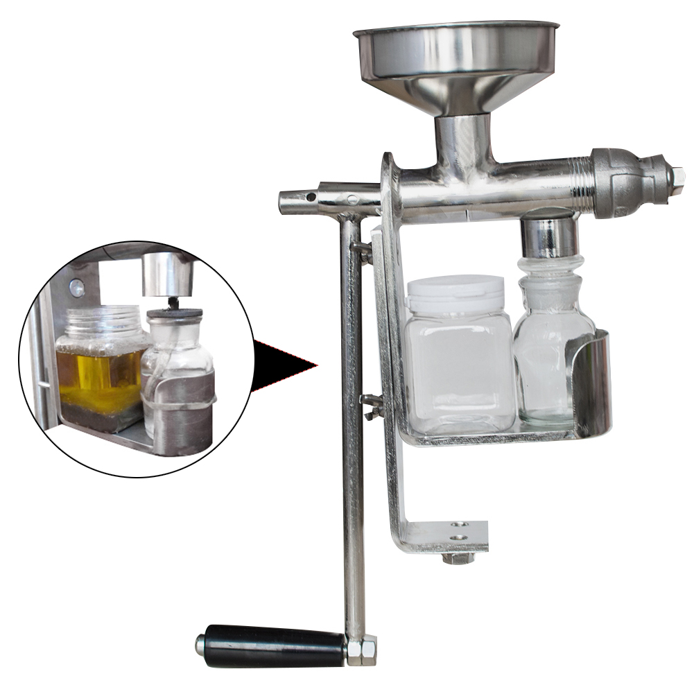 Stainless Steel Hand Press Manual Oil Machine Oil Expeller Extractor Home Use