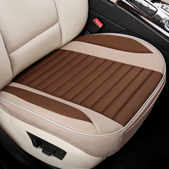KKYSYELVA  Easy Install Car Seat Cushion Cover Set Universal Auto Front Back Seat Covers Car Chair Mat Pad Interior Accessories