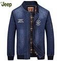2016 новые зимние мужские джинсовые куртки AFS ДЖИП случайные большой размер свободные куртки стильный комфорт теплые мужские джинсовые куртка 138