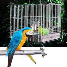 Птица Попугай ПЭТ подставка держатель из нержавеющей стали Шлифовальный коготь ПЭТ платформа для кабины аксессуары жевательная игрушка нашест для птиц стойки