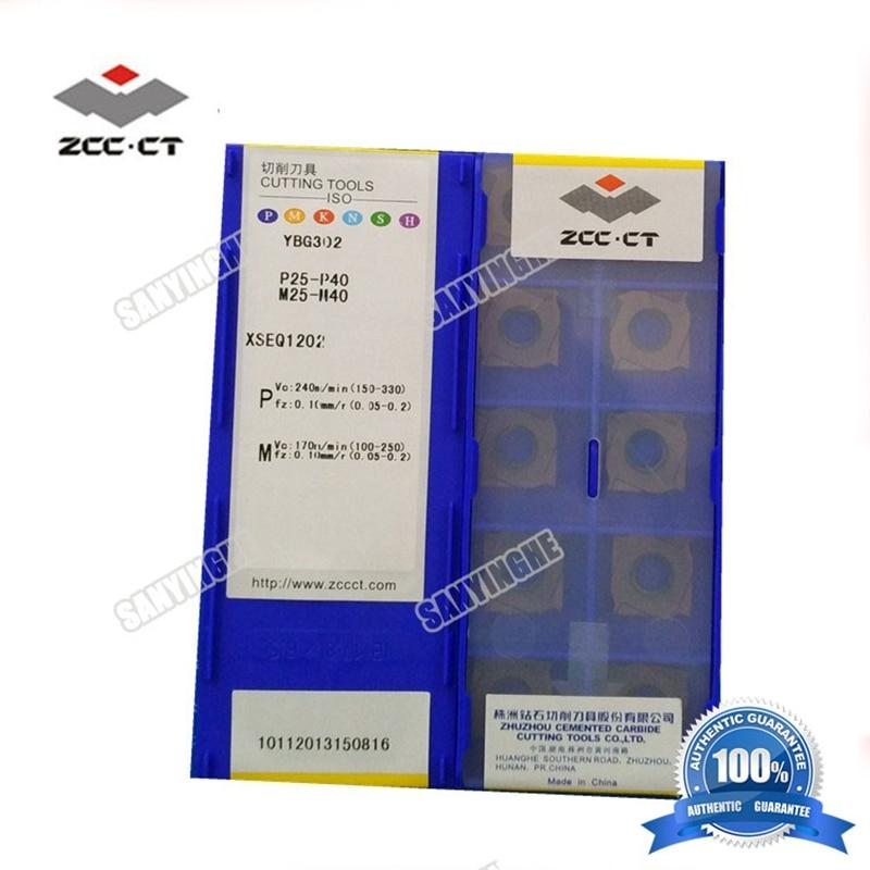 ZCC CT 10pcs box YBG302 XSEQ1202 XSEQ1203 XSEQ12T3 XSEQ1204 XSEQ12T4 cnc carbide milling inserts face and