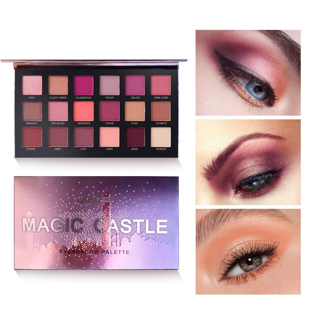 QIBEST 18 Color Set Eyeshadow Palette Pigments Waterproof Shimmer Glitter Nude Eye shadow Make up Palette ruby rose Eye Palette in Eye Shadow from Beauty Health