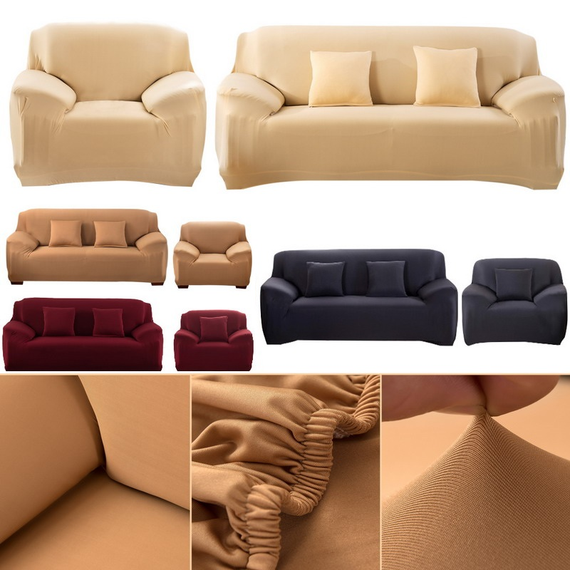 Modern Pure Color Fashion Elastic Sofa Covers For Living ...