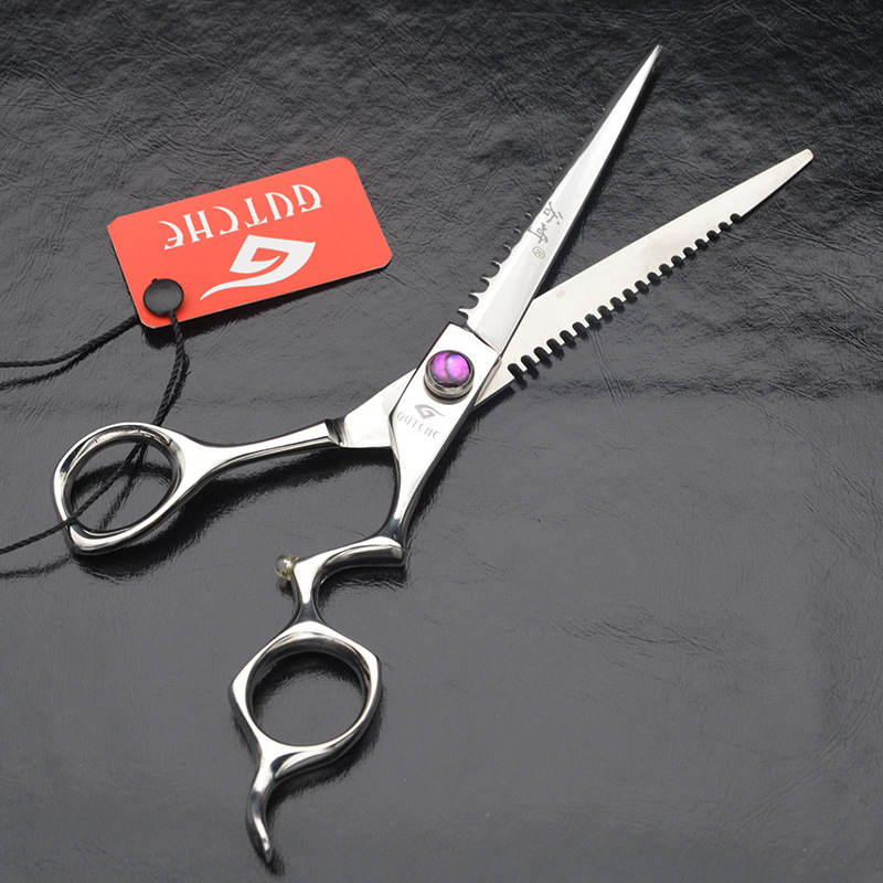 ФОТО New Design professional 7 inch japan 440C high-grade hair cutting scissors hairdressing salon barber shears
