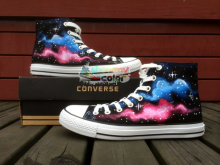 Classic Galaxy Converse All Star Men Women Sneakers Custom Original Design Hand Painted Canvas Shoes Boys Girls Best Gifts