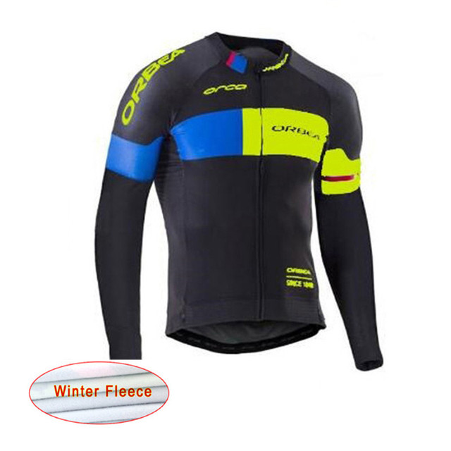 26213d615 2018 ORBEA cycling jersey winter thermal fleece MTB bike shirt long sleeve  Jacket Men Bicycle Clothing Ropa Ciclismo Hombre G184