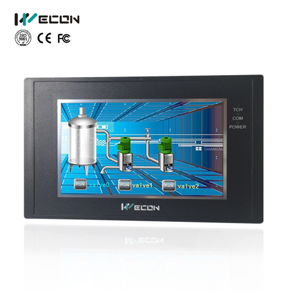 wecon small size HMI panel communicate with most brands PLC цена