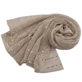 New shimmer pleated hijab,plain shiny crinkle scarf with lurex,plain glitter shawls,Muslim hijab,elastic head scarf with sequins