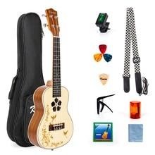 Kmise Professional Concert Ukulele Beginner Kit Solid Spruce Mahogany 23 Ukelele Uke Hawaii Guitar 18 Fret цены