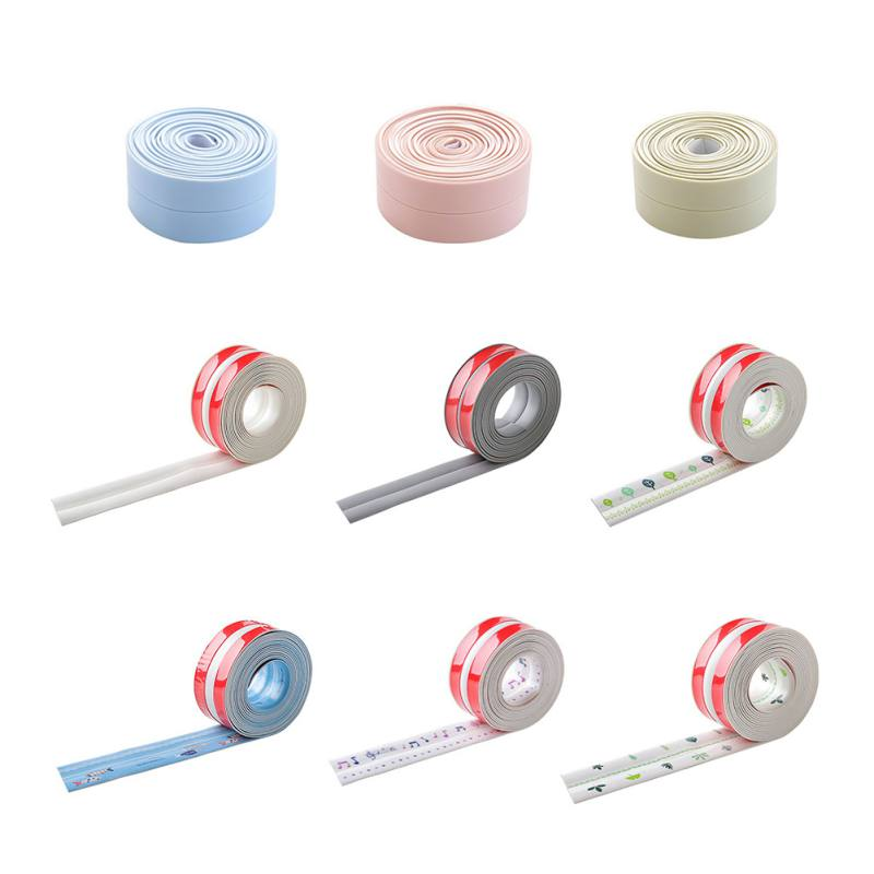 New Decorative Caulk Strip Self-Adhesive Sealing Tape Anti-Mildew Waterproof Edge Protector for Bath Shower Floor Kitchen Stove image