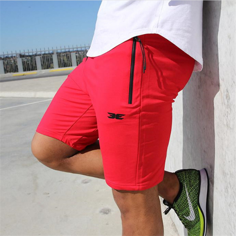High Quality Cotton Men Fitness Shorts Summer 2018 Beach New Fashion The Pocket Zipper Garnish Short Pants Hot Selling M-XXL